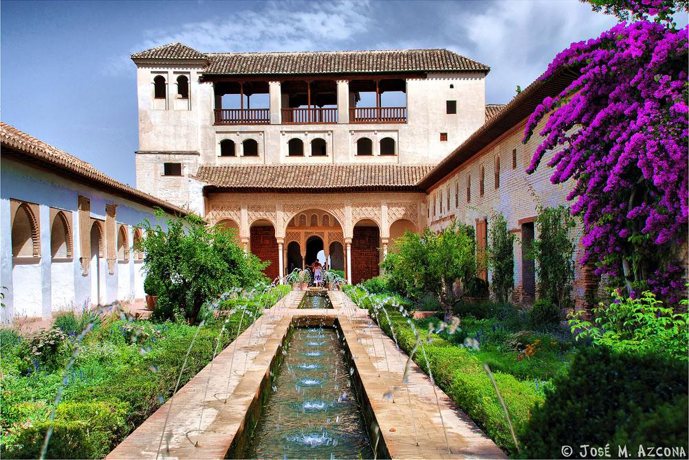 Palacio del generalife for Patios de granada